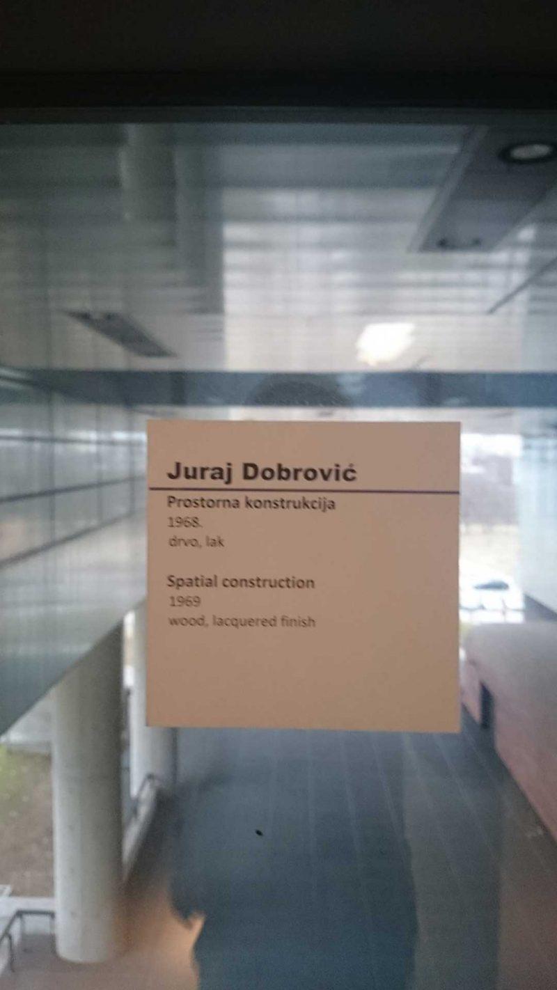 Juraj Dobrović Prostorna konstrukcija, Muzej suvremene umjetnosti Zagreb