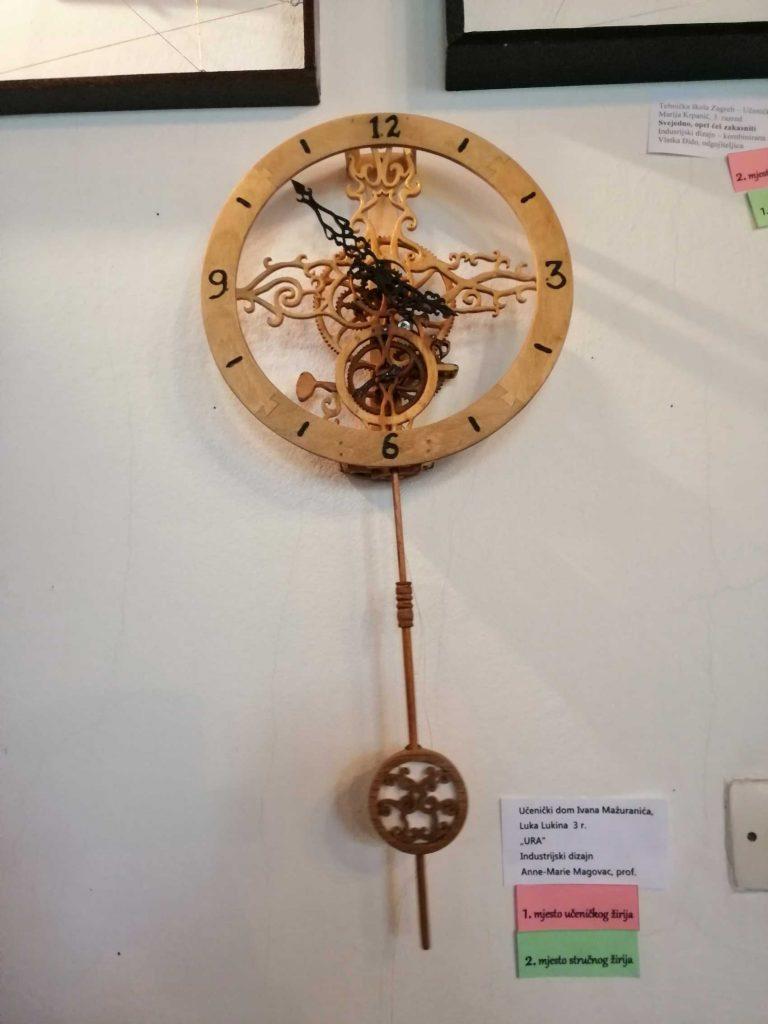 industrijski dizajn: drvena ura