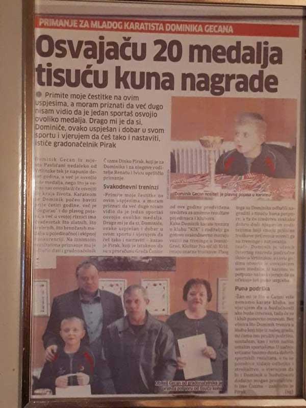 Karate kid novinski članak
